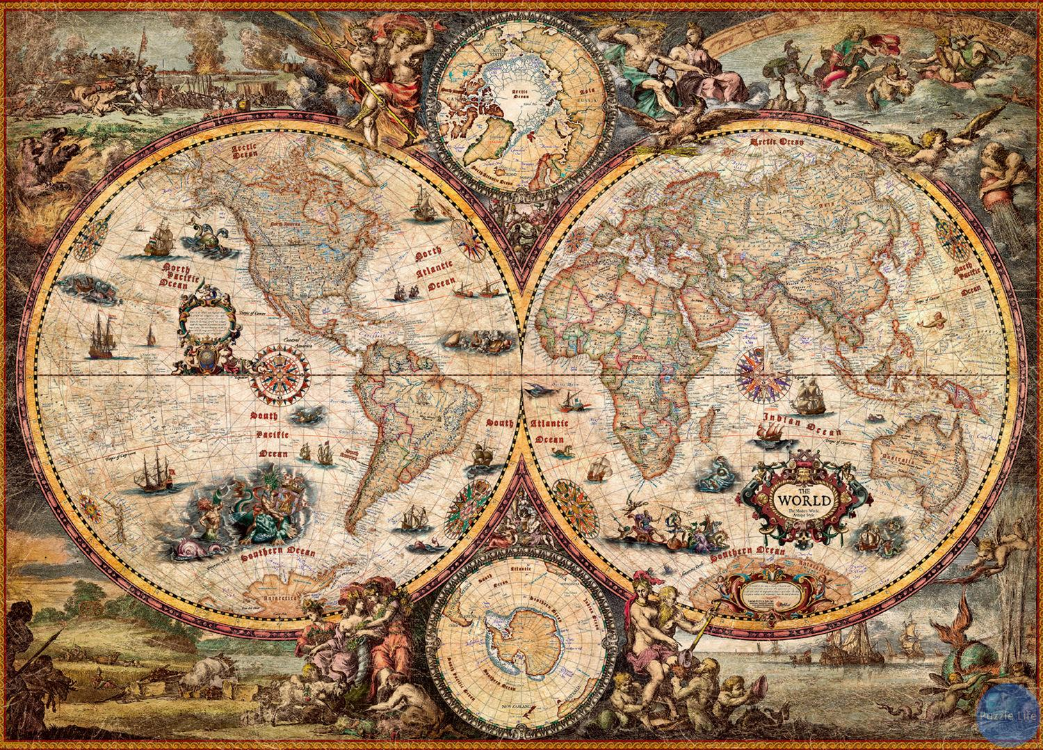 Assemble Ancient World Map 2000 Pieces of Reynolds Puzzle Toys for Adult Gift Toys