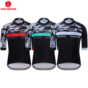 Men Breathable Cycling Jersey Summer Mtb Jersey camisa ciclismo Lycra Bike Jersey Short Sleeve maillot ciclismo hombre(China)