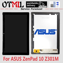 OTMIL 10.1'' LCD For ASUS Zenpad 10 Z301 Z301M P028 LCD Display Touch Screen Panel Digitizer Full Assembly Replacement Parts black full lcd display touch screen digitizer assembly for asus zenpad c 7 0 z170mg z170 z170cg p01y free shipping