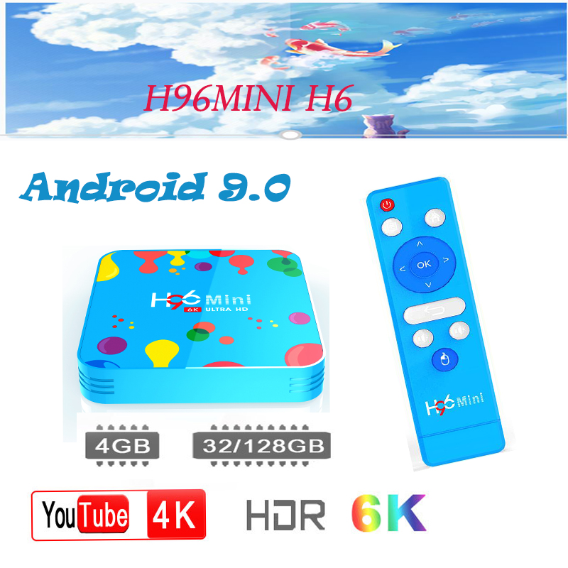 Netherlands smart tv box H96mini H6 Android 9 0 box 6k HD H 265 Google Media Player Bluetooth Android smart TV set top box in Set top Boxes from Consumer Electronics