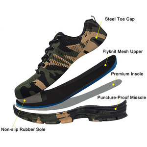 Image 3 - Safety Work Puncture Proof Shoes Boots with Steel Toe Cap Camo Breathable Mesh Casual Shoe Labor Sneakers Mens