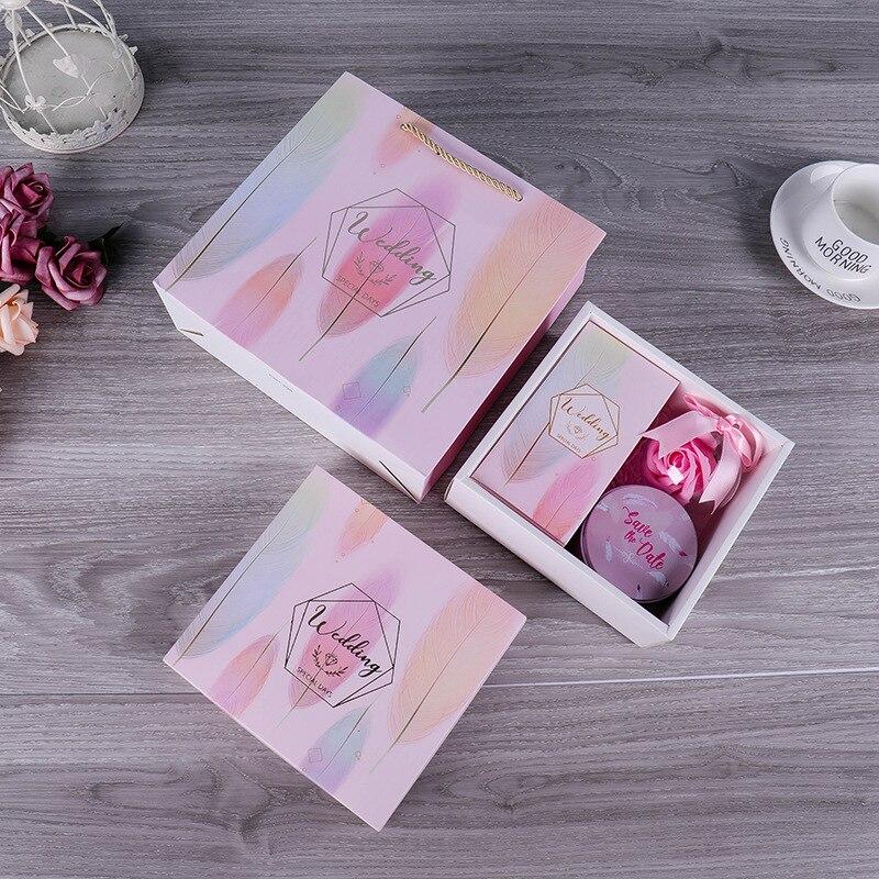Bonbons papier emballage boîte cadeau fleur коробка упаковка sac cadeau De fête De Mariage papier sacs подарков пакетики на упаковки - 4