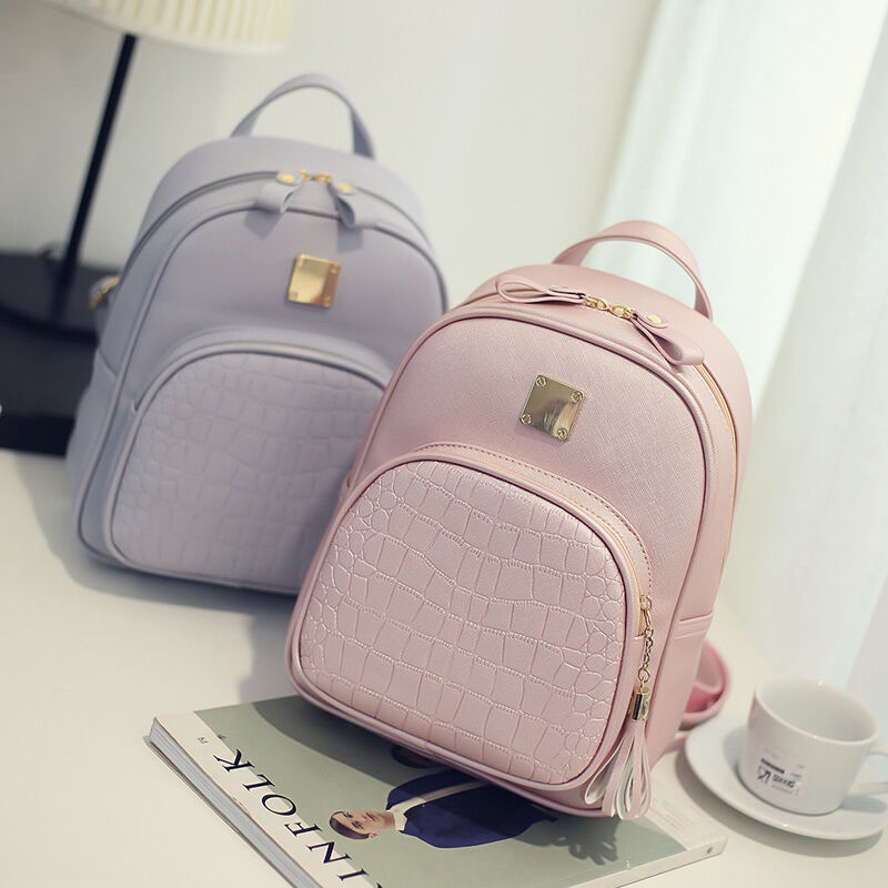 2020 New Luxury Women Backpack Crocodile Pattern Female Knapsack Small Elegant Lady Shoulder Bag Rucksack