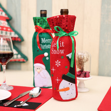 2020 Santa Claus Wine Bottle Cover Christmas Decorations for Home New Year Xmas Decor Red Covers