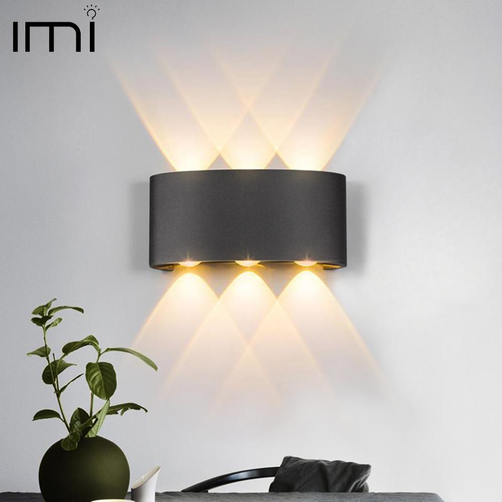 Moderna lâmpada de parede led 2 w 4 6 arandelas parede escada interior luminária cabeceira loft sala estar para cima baixo casa corredor lampada