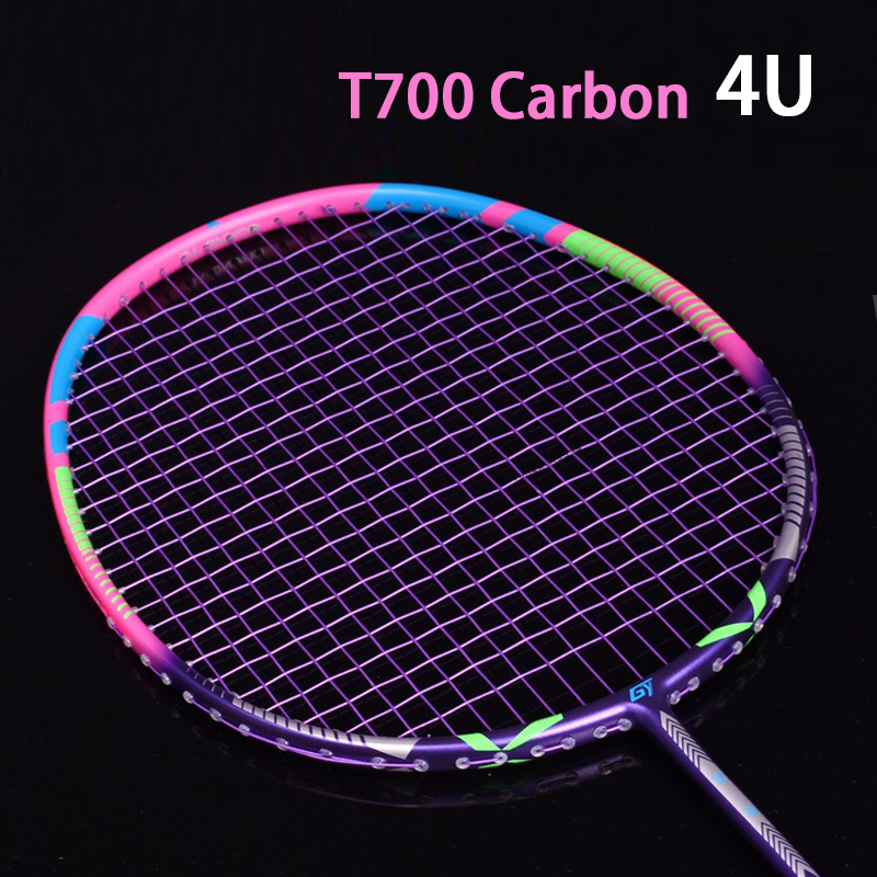 Ultralight Strung 4U 80±5g Full Carbon Badminton Racket Professional Multicolor Strings Bags Padel Rackets Sports Raquetas