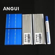 Celle solari 3x3 Policristallino Celle Solari Fotovoltaiche Kit 78*77 millimetri 50pcs 1.05 W/pz Poli cellulare SunPower Celle Solari 2BB Tab filo