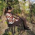 Ручной работы  Вязаный Круглый гамак  открытый  для помещения  спальни  подвесной стул для ребенка  для взрослых  качающийся  одиночный  безо...
