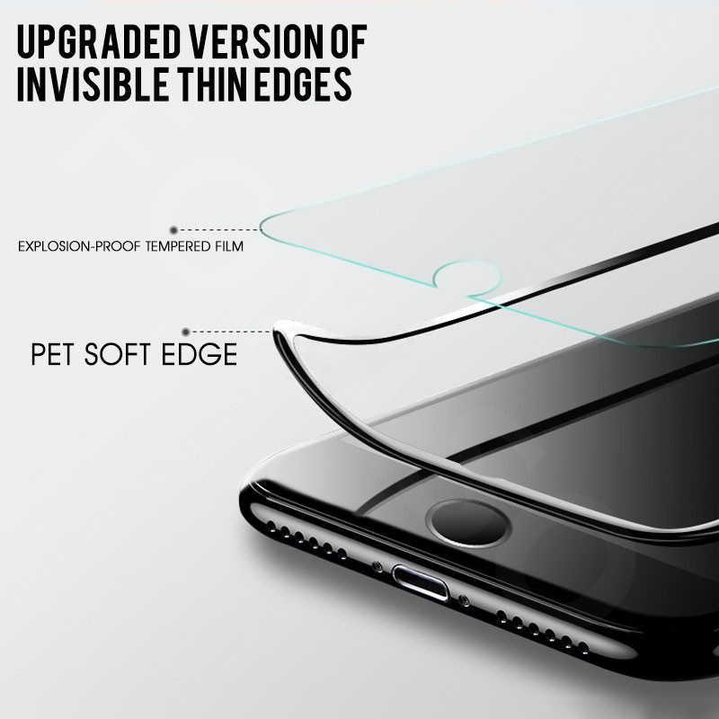 Полное покрытие защитное стекло для iphone 11 Pro XS Max XR X Защита экрана для iphone 7 8 6 6S Plus закаленное стекло Мягкий край