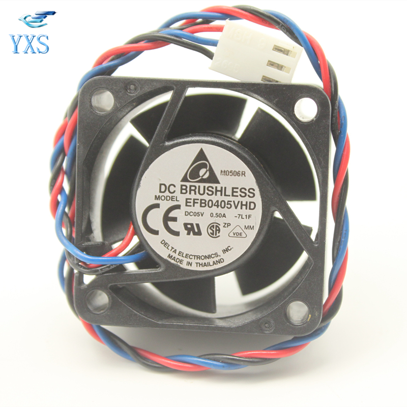 Delta computer cooling <font><b>fan</b></font> EFB0405VHD-7L1F DC <font><b>5V</b></font> 0.5A 8200 RPM 4020 40 * 40 * <font><b>20mm</b></font> square EFB0405VHD cooling <font><b>fan</b></font> image
