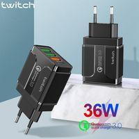 Cargador USB de carga rápida 3 0 de 18W para iPhone  Samsung  Note 7 Redmi  QC 3 0  Cargador adaptador para teléfono móvil