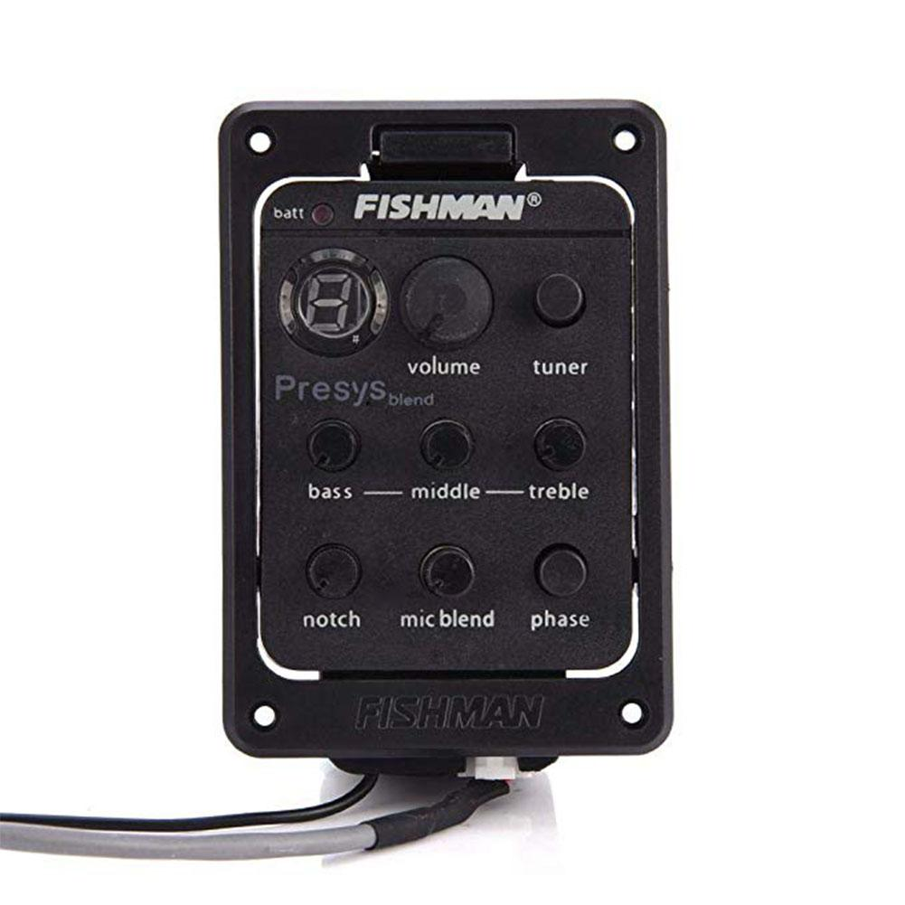 Fishman Presys 301 Mic Blend Dual Mode Pickup Acoustic Guitar Board Preamp EQ Tuner Piezo Pickups Aperture Pickup Equalizer