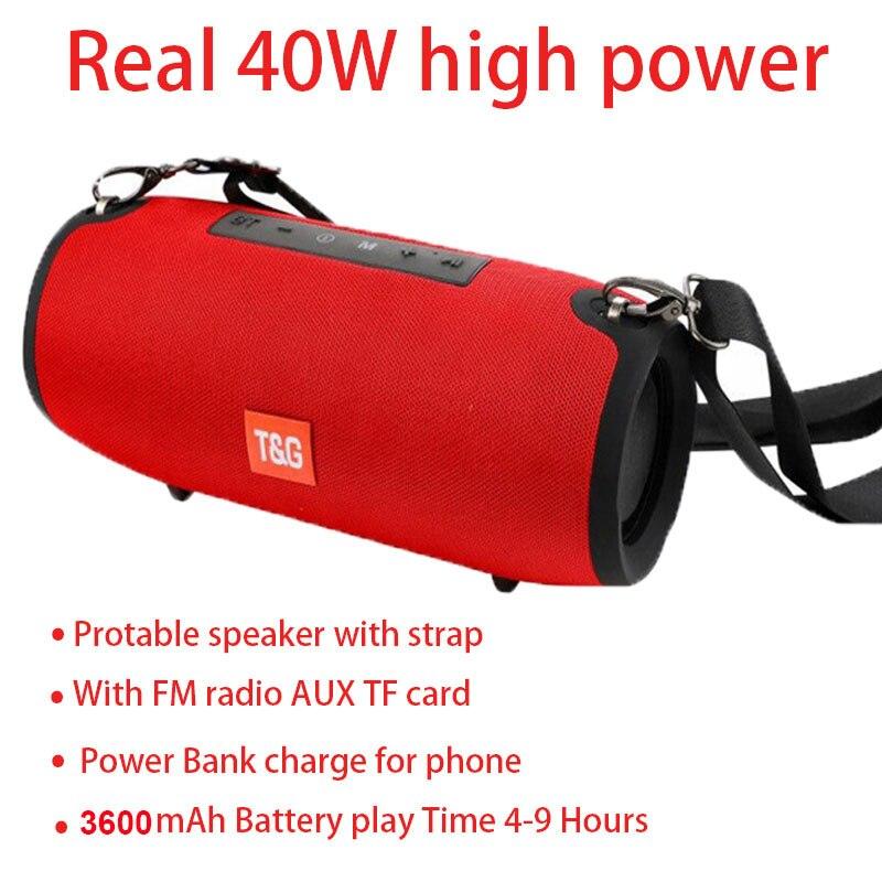 Haut-parleur Portable TG118 haute puissance 40W sans fil Bluetooth stéréo Super basse avec amplificateur 3600 mAh barre de son extérieure sans fil