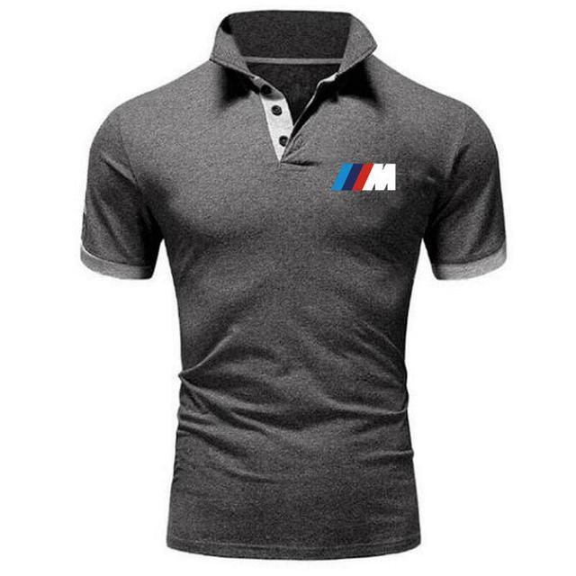 Summer BMW short Sleeve Polo Shirt men polo shirts casual Slim Solid Printing business men's polo shirts men's clothing 6