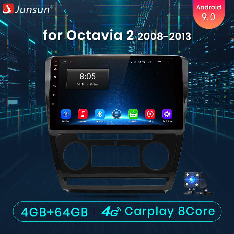 Junsun 4G + 64G CarPlay DSP Android 8,1 автомобильный Радио Мультимедиа Стерео Аудио плеер gps 2 Din для hyundai Santa Fe 2 2006-2012 без DVD