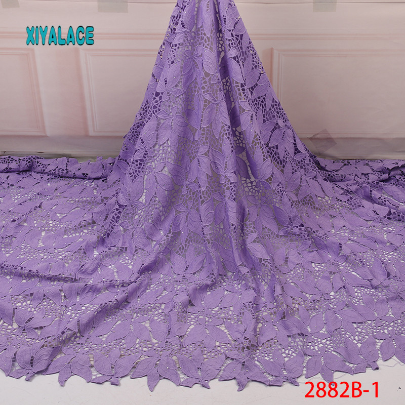African Lace Fabric Switzerland Lace 2019 High Quality Lace Fabric Nigerian Lace Fabrics French Bridal Lace For Dress YA2882B-1