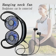 Neck-Fan Bluetooth Hanging Wearable-Aroma-Fan-Blac Adjustable Hands-Free Rechargeable