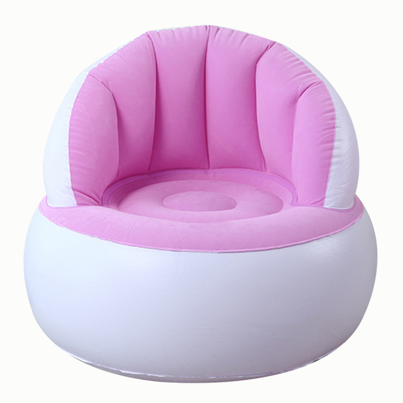 Children Chairs Kids Flocking Chair Pouf With Backrest Inflatable Soft Sofa For Kids  58x53cm E2S