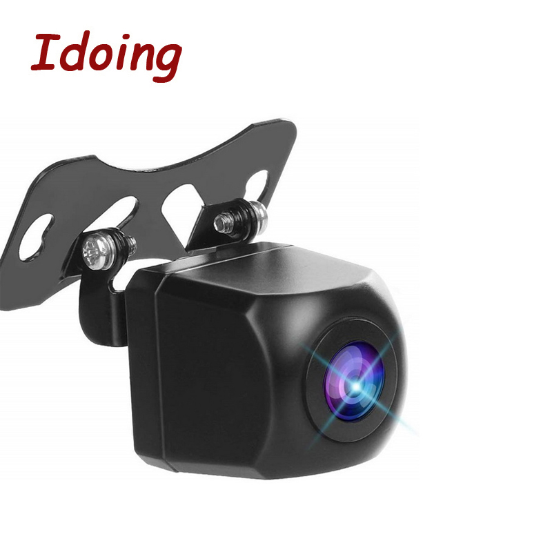 Idoing 170 Degree Angle HD Rear View Camera Car Back Reverse Camera Fish Eyes Night Vision Parking Assistance For Android8.1/9.0