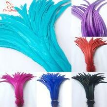 Красивые натуральные перья петушиного хвоста, 50 шт., 25-40 см/10-16 дюймов, украшение для одежды, перья петушиного хвоста для выступления на сцене...