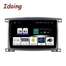 """Idoing 9 """"/10.2 インチオクタコア車のアンドロイド 9.0 の無線マルチメディアプレーヤートヨタランドクルーザー LC 100 2002 2007 GPS ナビゲーション"""