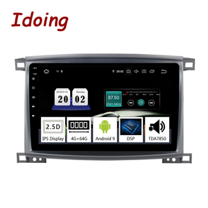 """Image 1 - Idoing 9""""/10.2 inch Octa Core Car Android 9.0 Radio Multimedia Player For Toyota Land Cruiser LC 100 2002 2007 GPS Navigation"""