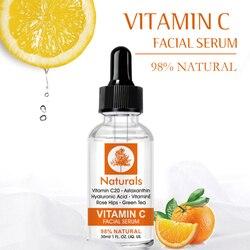 30ml Vitamin C Hyaluronic Acid Face Serum Moisturizing Anti-Aging Shrink Pore Whitening Natural Skin Care Face Serum TSLM1