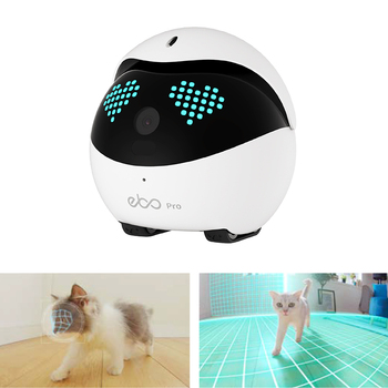 Ebo Pro Smart Robot WiFi Collar Catpal Pet Cats Toy Security 1080P Wireless Camera Interactive for Cats Remote Control Via App 1