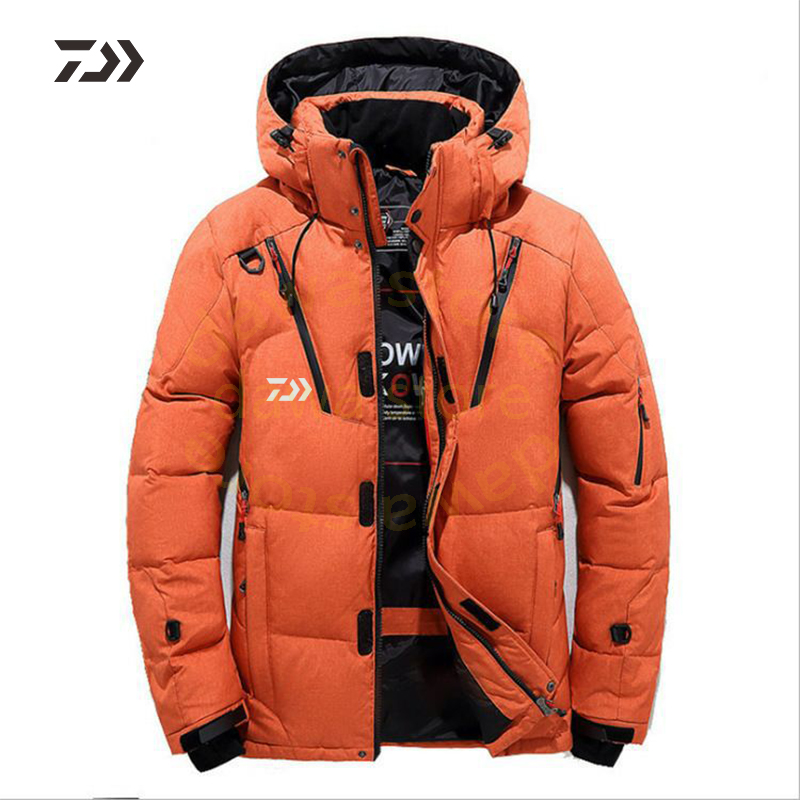 Daiwa Jacket Men's Velvet Fishing Clothes Thicken Thermal Zipper Fishing Shirt Daiwa Winter Fishing Clothing Men Cotton Outdoor