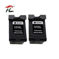2 черный 121XL совместимые чернильные картриджи для hp 121 XL для hp 121 с чернилами hp Deskjet F4283 F2423 F2483 F2493 F4213 F4275 F4283 F4583 принтер
