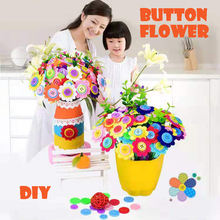 Childrens DIY button flower parent-child handmade material package holiday gift creative educational toys