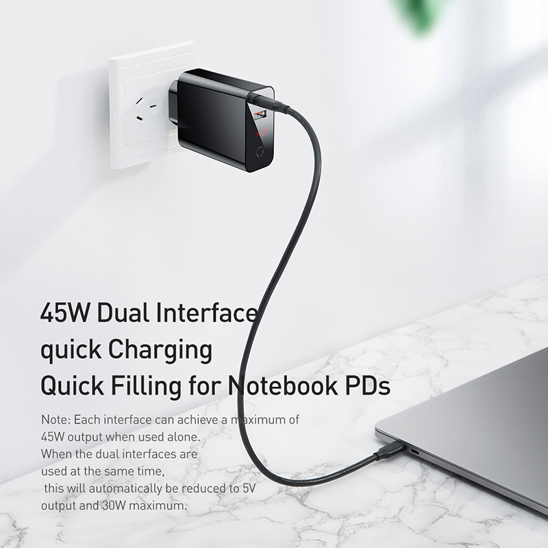 Image 5 - Baseus Digital Display Quick Charge 4.0 3.0 USB Charger QC 4.0 3.0 Charger USB C 18W PD 3.0 Fast Charger for iPhone 11 Pro-in Mobile Phone Chargers from Cellphones & Telecommunications