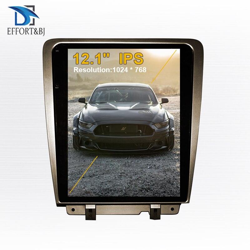 Вертикальный Автомобильный GPS-навигатор в стиле Tesla Android 9,0 для Ford Mustang 2009-2015, автомобильный радиоплеер, автомобильный мультимедийный Головно...