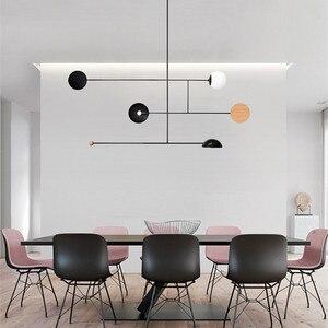 Image 5 - Postmodernen Minimalistischen Esstisch LED Anhänger Lampe Kreative Kunst Deco Parlor Halle Kaffee Shop Suspension Beleuchtung Leuchten