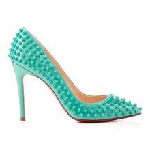 Высококачественные тонкие женские туфли на высоком каблуке с