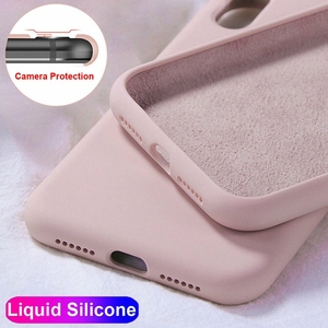 Оригинальный жидкий Мягкий силиконовый чехол для Etui Hawei Honor X10 8X V10 V20 V30 Pro 10 20 30 Play 4 P10 P20 P30 P40 Lite, задняя крышка