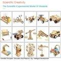Ciência criativa experimentos brinquedo conjunto diy caule montado modelo kit de madeira artesanal artesanato brinquedos para crianças presentes aniversário