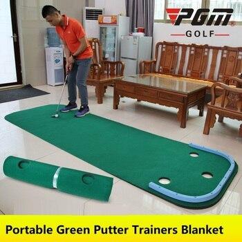 2020 داخلي PGM عين جولف الأسرة الخضراء ممارسة المحمولة وضع لعبة غولف صغيرة خضراء ممارسة تمارين بطانية عدة حصيرة