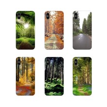New Green Forest Tall Trees Silicone Shell Cases For Huawei G7 G8 P7 P8 P9 P10 P20 P30 Lite Mini Pro P Smart Plus 2017 2018 2019(China)