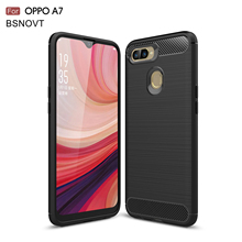 For OPPO A7 Case Soft TPU Silicone Bumper Shockproof Anti-knock Phone Cover Funda 6.2 inch BSNOVT
