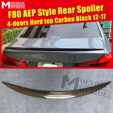 F80 Spoiler Carbon Fiber Tail Wing AEP Style For BMW 3-Series 320i 325i 328i Gloss Black Trunk 2012-2017