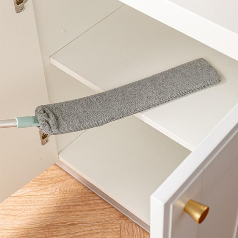 Guarda-roupa cama escova de remoção poeira doméstico alongar lidar com super fino pena espanador hangable coletor de poeira suprimentos de limpeza