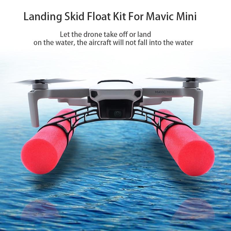 DJI Mavic Mini Landing Skid Float Kit For Water floater landing gear drone accessories shock-absorbing cotton training stand