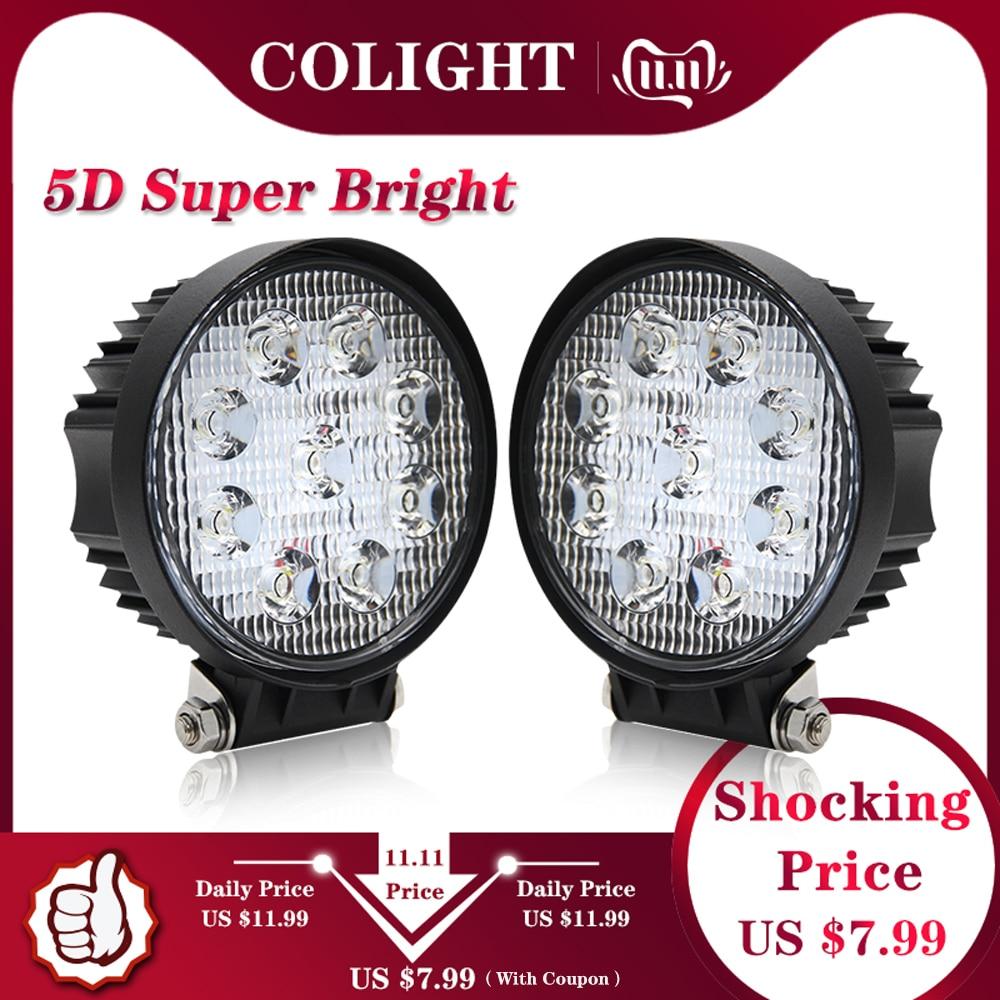 CO LIGHT 27W 4.3 Inch LED Work Light 5D Flood Spot Led Beams Driving Lamp For Truck Boat Offroad Lada ATV 4WD 12V 24V Fog Light