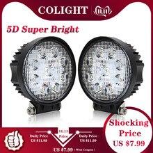 Światło co 27W 4.3 cala LED światło robocze 5D Flood Spot Led wiązki lampa do jazdy dla ciężarówki łódź Offroad Jeep ATV 4WD 12V 24V światło przeciwmgielne