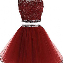 2 Piece Short Prom Party Dress Homecoming Dresses