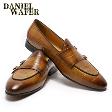 ITALIAN MEN SHOES GENUINE LEATHER CASUAL LUXURY SLIP ON FORM