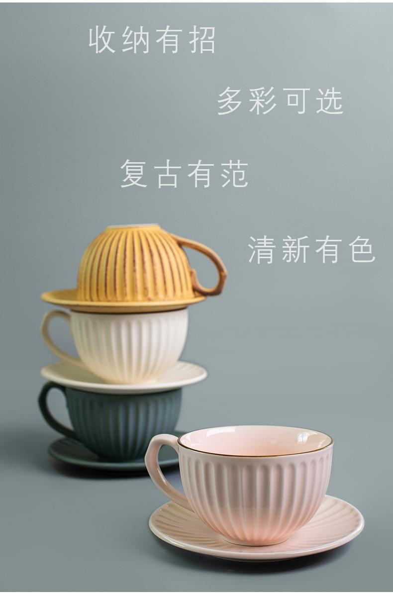 Vintage xícara de café criativo cerâmica artesanal