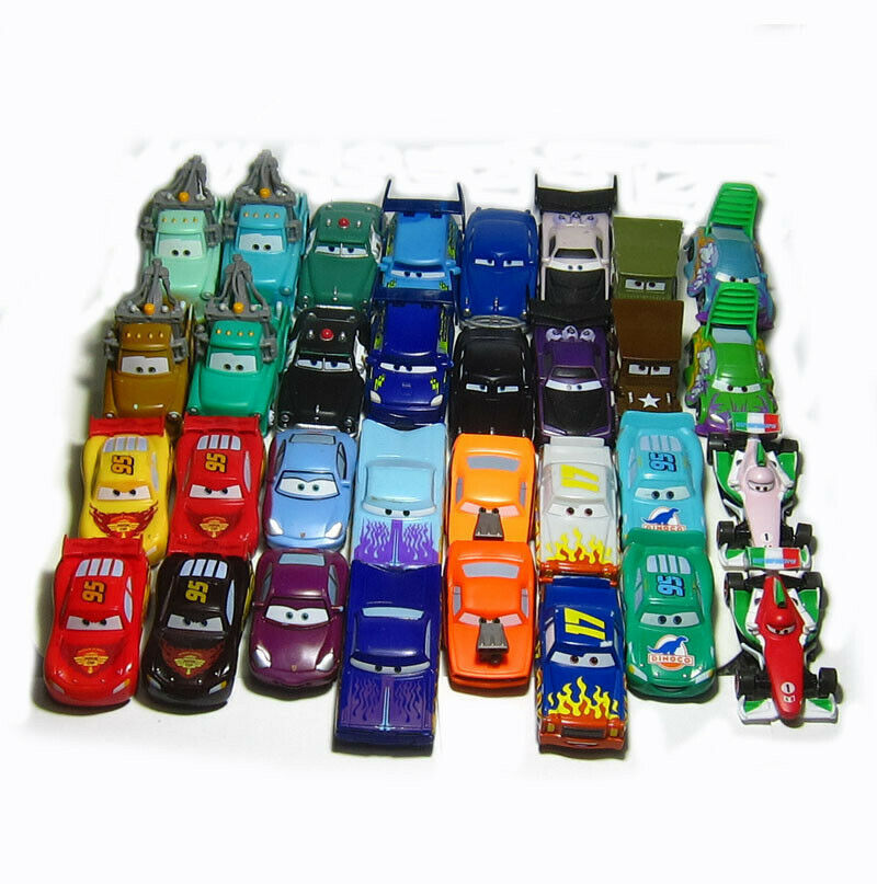 Disney Pixar Cars Color Changers Dinoco Lightning Sherif McQueen Vehicle 1:55 Diecast Car Collection Children Loose Rare Collect