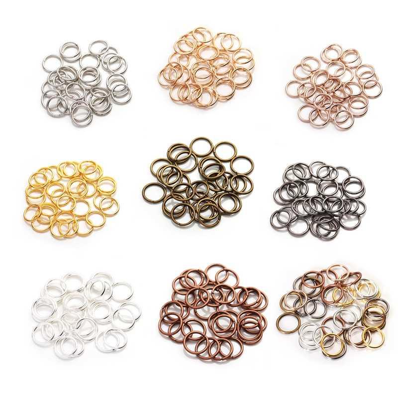 200 sztuk/partia złoty srebrny Loop 4 5 6 8 10 mm otwarte Jump pierścienie dla DIY tworzenia biżuterii naszyjnik bransoletka ustalenia złącze dostaw